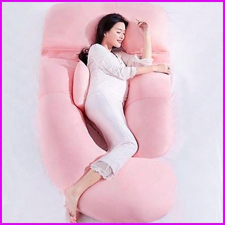 Gối bà bầu đa năng, gối chống mỏi lưng, gối hỗ trợ ngủ bên trái cho bà bầu
