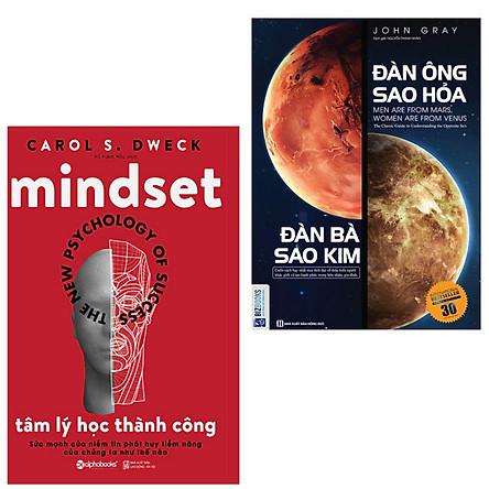 Combo sách  hay đáng đọc : Mindset the new psychology of success - Tâm lý học thành công + Đàn ông sao hỏa đàn bà sao kim - Tặng kèm bookmark thiết kế