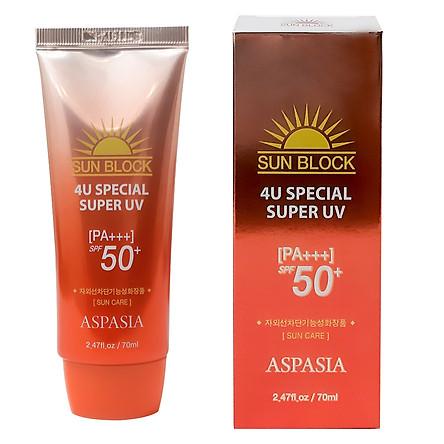 Kem Chống Nắng ASPASIA SUNBLOCK 4U Special Super UV KOREA