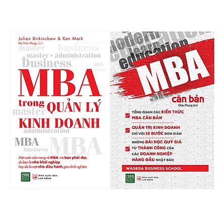 Combo MBA Căn Bản + MBA Quản Lý Trong Kinh Doanh ( 2 Cuốn )