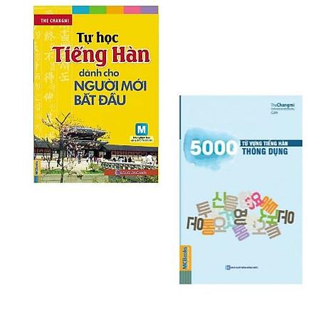Combo sách: Tự Học Tiếng Hàn Dành Cho Người Mới Bắt Đầu + 5000 Từ Vựng Tiếng Hàn Thông Dụng