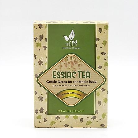 Trà Essiac Tea Viet Healthy, trà thảo dược Viethealthy thanh lọc cơ thể, củng cố miễn dịch, phòng ung thư, bảo vệ tim mạch, thận, gan, khớp, cung cấp vitamin, khoáng chất, đào thải độc tố