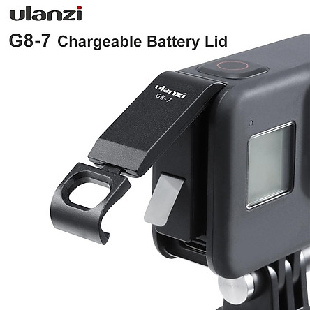 G8-7 Camera Battery Cover Removable Type-C Charging Port Aluminum Alloy Filter Adaptor for Gopro Hero 8 Black Action Camera