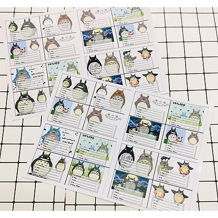 Combo 80 nhãn vở Totoro
