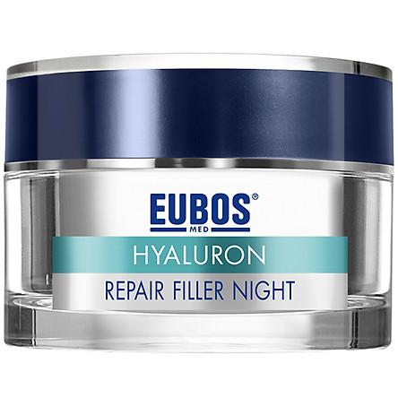 Kem Dưỡng Da Ban Đêm Chống Lão Hóa Làm Mờ Nếp Nhăn Và Tái Tạo Da EUBOS Anti-age Hyaluron Repair Filler Night (50ml)