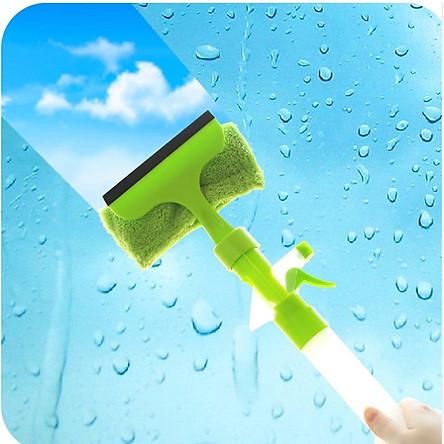 Bộ 2 Dụng cụ lau kính cầm tay có bình xịt nước đa năng