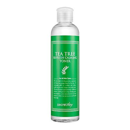 Nước hoa hồng dành cho da mụn, làm dịu mát làn da Secret Key Tea Tree Refresh Calming Toner 248ml