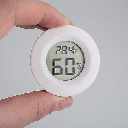 Đồng hồ đo nhiệt độ - độ ẩm loại tròn (Màu ngẫu nhiên)