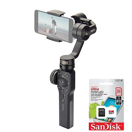 Zhiyun Smooth 4 (Hàng Chính Hãng) + Thẻ Nhớ Sandisk MicroUltra 32Gb 80Mb/s