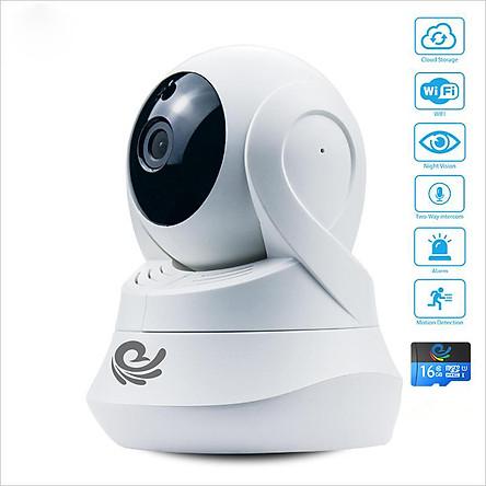 Camera Wifi 360 Độ Quan Sát Trong Nhà - 1080 FULL HD - Dễ Dàng Cài Đặt - Xem Cùng Lúc 4 Camera - Hàng Chính Hãng
