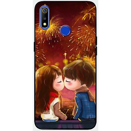 Ốp lưng dành cho Realme 3 Pro mẫu Nụ hôn pháo hoa