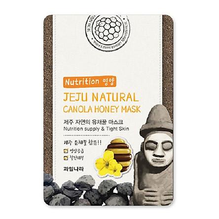 Mặt nạ dưỡng da thảo dược mật ong (combo 10 miếng) Hàn Quốc Welcos jeju natural canola honey mask 20ml