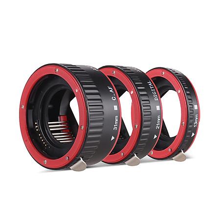 Ống Kính Ngàm Andoer Lấy Nét Tự Động Cho Canon EOS EF EF-S - Đỏ (13mm +21mm+31mm)