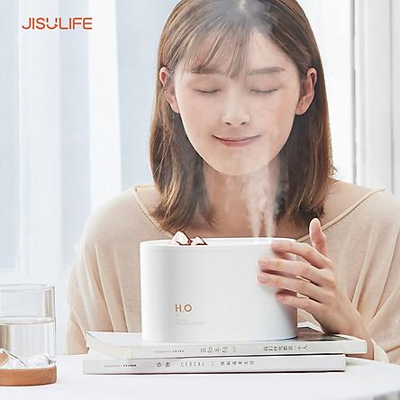 Máy phun sương Jisulife JS05 - Tạo ẩm không khí và giữ ẩm da 1000ml - Hai vòi phun công suất lớn - Máy tạo độ ẩm không gian thư giãn, sử dụng làm sạc dự phòng, hoạt động 6-12 giờ liên tục - Hàng chính hãng