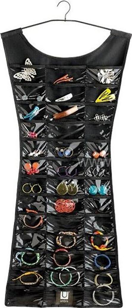 Dụng cụ bảo quản trang sức 2 mặt hình váy đầm - giao màu ngẫu nhiên