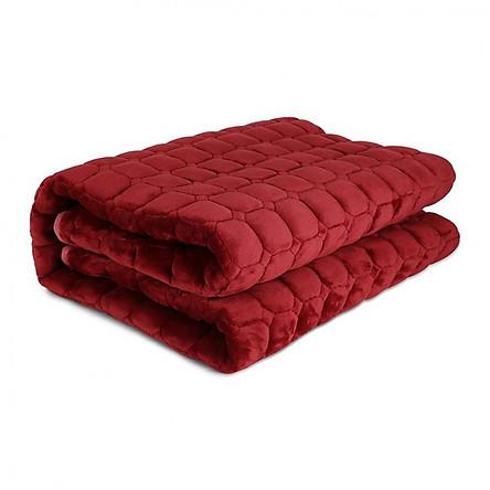 Thảm trải giường mùa đông 1m8 x 2m (giao màu ngẫu nhiên)