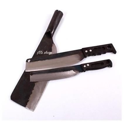 Bộ Ba dao Đa Sỹ đen (2 dao thái+1 dao chặt nhíp xe)