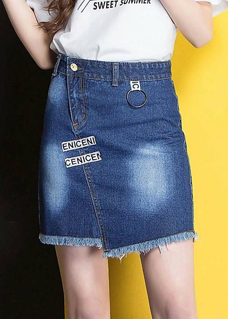 Chân váy jeans ceniceni Mã: VN781 - XANH ĐẬM