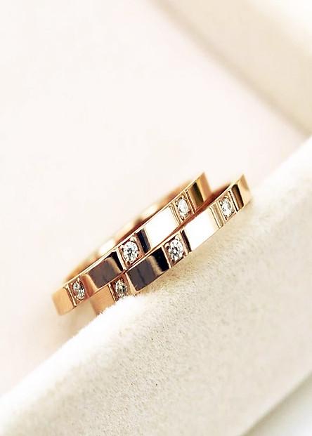 Nhẫn đôi titan đá cubic sang trọng mãi yêu NC189