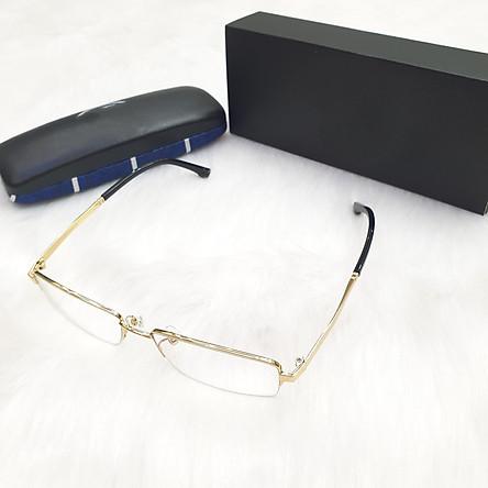 Kính chống ánh sáng xanh bảo vệ mắt gọng titan KaVi A7 màu Vàng ánh kim
