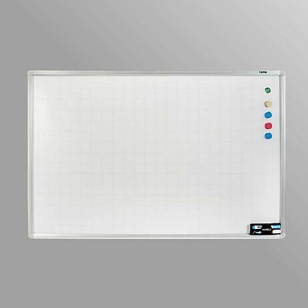 Bảng Trắng viết bút 80 x 120 cm từ tính Hàn Quốc (Phụ kiện bút, bông lau, nam châm)