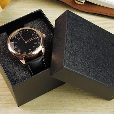 Dark Pattern Square Watch Box