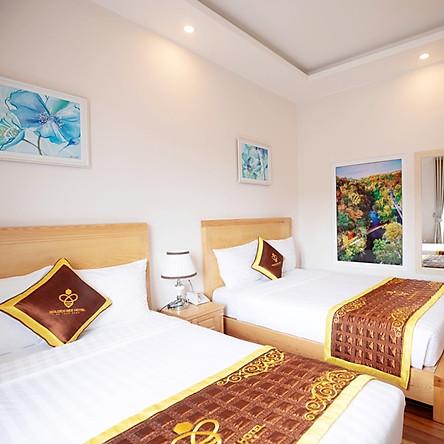 Golden Bee Hotel 3* Trung tâm Đà Lạt - Voucher Happy Family Nghỉ Dưỡng 3N2Đ Dành Cho 4 Khách