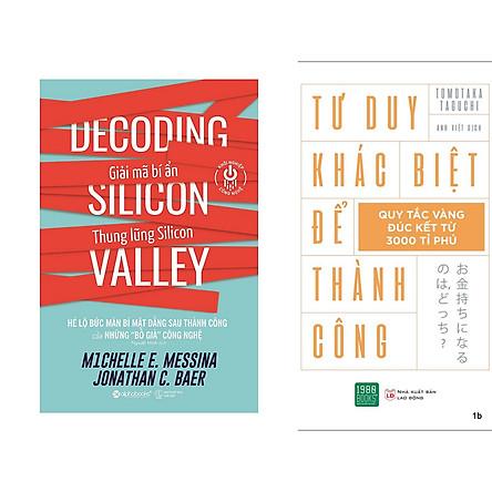 Combo 2 Cuốn: Khởi Nghiệp Công Nghệ - Giải Mã Bí Ẩn Thung Lũng Silicon + Tư Duy Khác Biệt Để Thành Công
