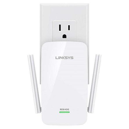 Bộ thu sóng phát lại - Router wifi Linksys RE6400 AC1200 phát sóng băng tần kép