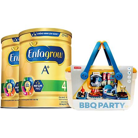 Combo 2 Lon Sữa Bột Enfagrow A+ 4 1.7kg - Tặng Bộ Đồ Chơi Tiệc Nướng BBQ