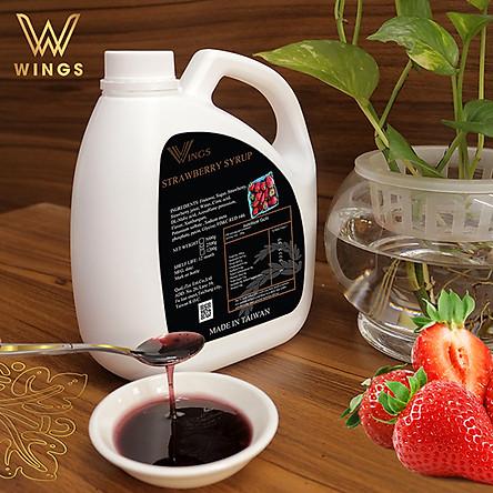 Si rô hương vị dâu tây Wings dùng pha chế Coffee, Iced tea, Milkshakes, Cocktails, Soda ... trọng lượng 2,5 kg