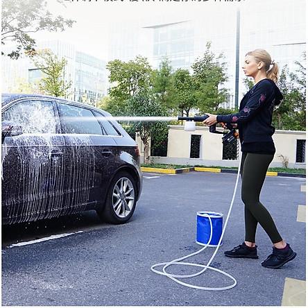 Máy xịt rửa xe vệ sinh nhà cửa 2in1 tăng áp lực nước không dây pin lithium 21V