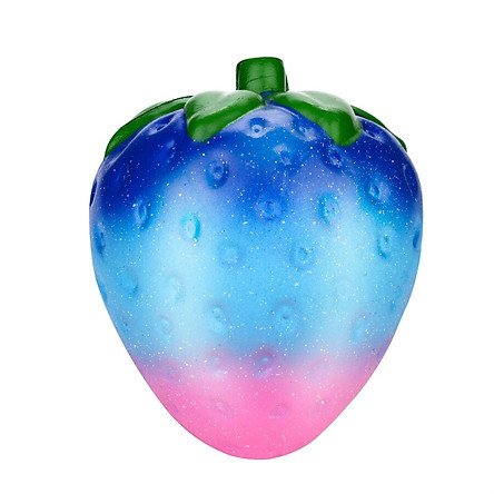 Gobestart Jumbo Galaxy Strawberry Scented Squishy Charm Slow Rising Stress Reliever Toy