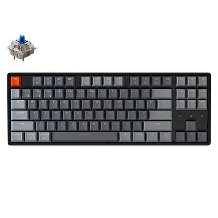 Bàn phím cơ Keychron K8 Bản nhôm có Hot swap (TKL) - hàng chính hãng