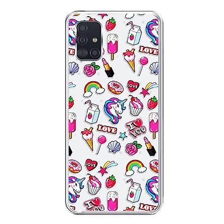 Ốp lưng dẻo cho điện thoại Samsung Galaxy A51 - 0155 SWEET02 - Hàng Chính Hãng