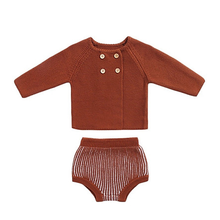 Knitted Baby Clothes Autumn Winter Newborn Baby Boy Girl Clothes Set Woolen Cotton Infant Baby Cardigan Shorts Baby Outfits