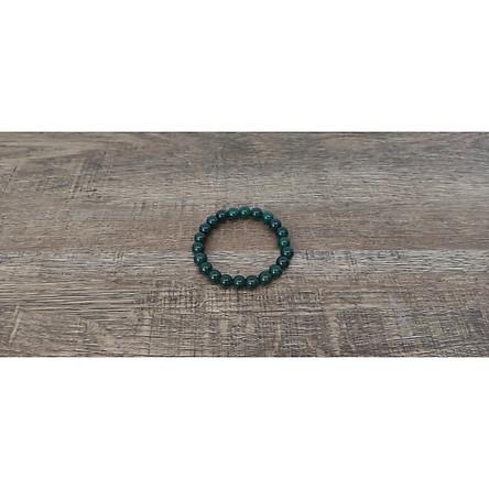 Vòng tay chuỗi hạt đá cẩm thạch xanh lá đậm 8 ly (Đá Myanmar), vòng tay phong thủy đá tự nhiên