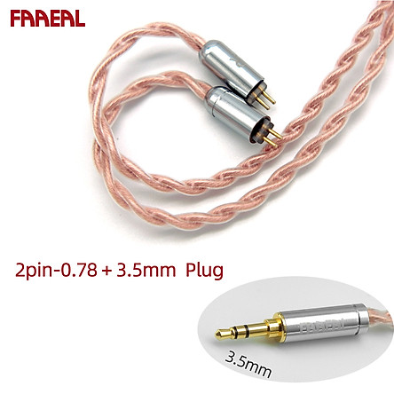 FAAEAL 4 Core High Purity Copper Earphone Cables 3.5mm/2.5/4.4 TRRS Gold-plated Earphone Upgrade Cable 2Pin/ MMCX Connector For TFZ/Kinera/TRN/FAAEAL