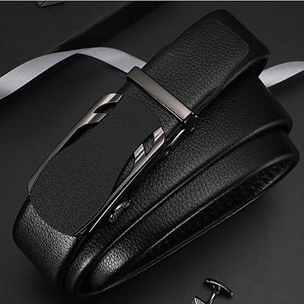 Thắt lưng nam cao cấp, dây nịt nam cao cấp dây da bền bỉ khóa tự động thương hiệu TOPEE phong cách công sở CA56
