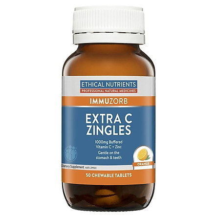 Ethical Nutrients IMMUZORB Extra C Zingles Orange 50 Tablets