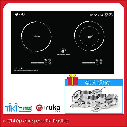 Bếp đôi hồng ngoại và điện từ  cao cấp Thái Lan Iruka I20N - Hàng chính hãng
