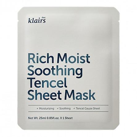 Mặt Nạ Klairs Rich Moist Soothing Tencel Sheet Mask