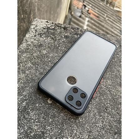 Ốp lưng nhám mờ cho Realme C12 , Realme C25 chống sốc, bảo vệ Camera (đen)