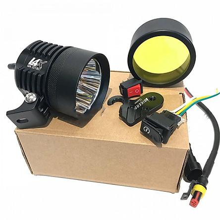 Đèn Led L4X 40W Trợ sáng xe máy Tặng 5 món phụ kiện