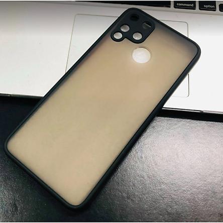 Ốp lưng trong nhám viền màu chống sốc cho Realme C15, C17 ,7i