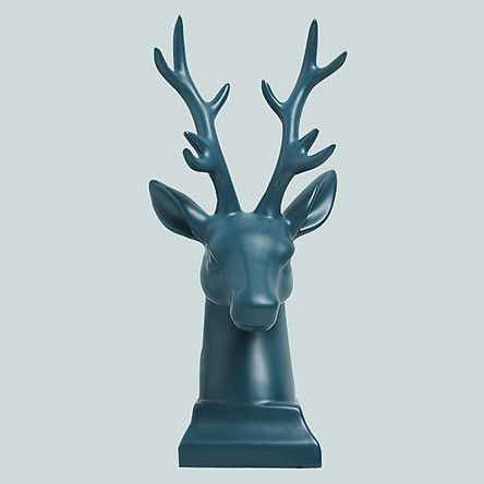 Tượng đầu hươu trang trí bằng sứ sang trọng (phong cách Bắc Âu)