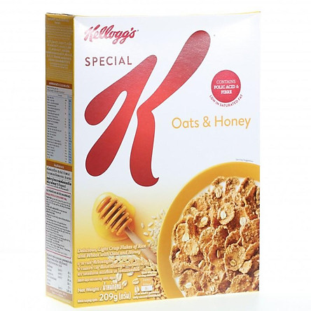 """[Chỉ Giao HCM] - Ngũ cốc dinh dưỡng Kellogg""""s Special K Oats Honey - hộp 209gr"""