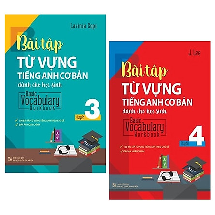 Combo Basic Vocabulary - Workbook Primary / Bài Tập Từ Vựng Tiếng Anh Cơ Bản - Tập 3 Và 4 (Bộ 2 Tập)