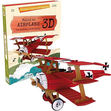 Bộ lắp ghép mô hình 3D giấy MÁY BAY chính hãng Sassi Junior 3D puzzle AIRPLANE