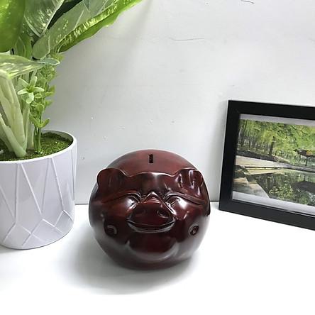 Tượng Đầu Heo Gỗ Nguyên Khối Phong Thủy - Chiêu Tài Lộc - Size Nhỏ